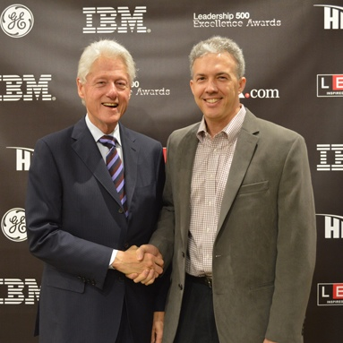 President Bill Clinton and Brian Christie
