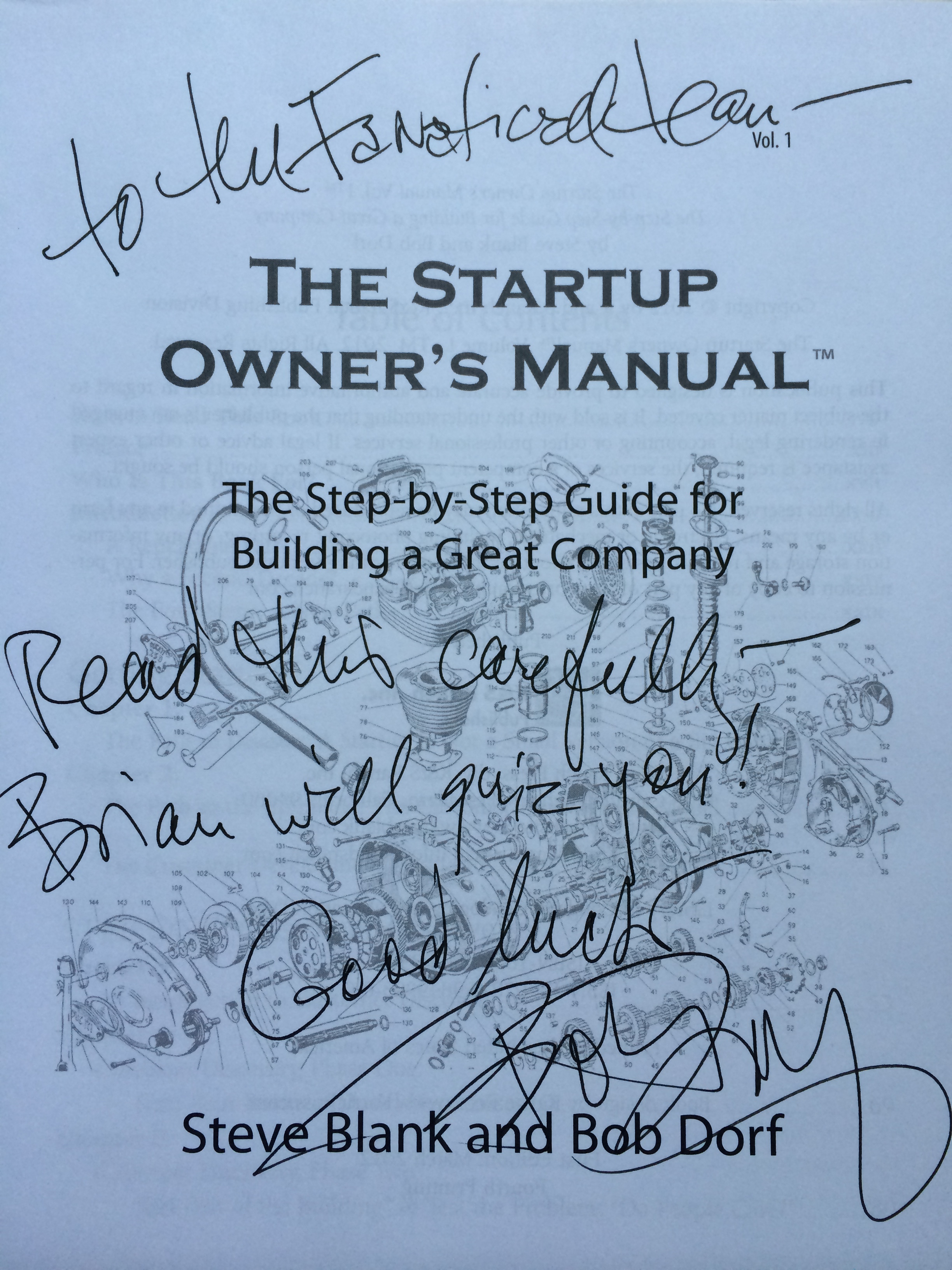 Bob Dorf Startup Owners Manual